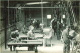Mechanical engineering students working in shop, The University of Iowa, 1924