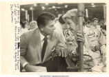 Governor Ronald Reagan speaking to Mary Louise Smith at Republican National Convention, Miami Beach, Fla., August 1972