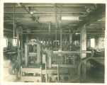 Machinery in the Engineering shed, the University of Iowa, 1901