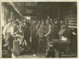Demonstration in Blacksmithing class, 1917