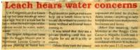 Congressman Leach Hears Water Concerns