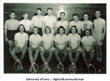 Badminton class, The University of Iowa, 1940s