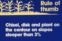 Rule of thumb for chisel plowing.