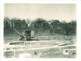 Foundation of the revolving stage for the Theatre Building during construction, the University of Iowa, 1935