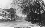 Clinton Street businesses, Iowa City, Iowa, between 1915 and 1920