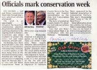 Officials Mark Conservation Week
