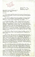 Letter to Rear Admiral John D. Bulkeley, U.S.N. from Hubert Dwight Hough.