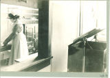 Nurse in the kitchen in the isolation hospital, The University of Iowa, November 1920