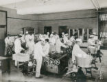 Working in the Dairy Industry building, 1905
