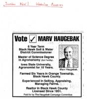 Vote Marv Haugebak