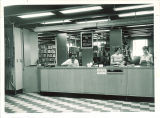 Reserve Book area staff in the Main Library, the University of Iowa, 1955