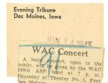 WAC concert