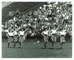 Highlander dancers at Iowa vs. Washington football game, The University of Iowa, October 3, 1964