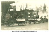 Mechanical and Electrical engineering floats in Mecca Day parade, The University of Iowa, 1920