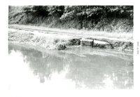 Washout On Rural Road, 1965