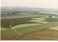 Aerial Photograph of Agricultural Land