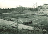Kinnick Stadium construction, the University of Iowa, 1929