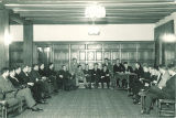 Meeting in Quadrangle Residence Hall, the University of Iowa, 1930s