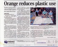 Orange Reduces Plastic Use