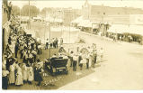 Spectators, band, and circus performers, Lenox, Iowa, 1910s?