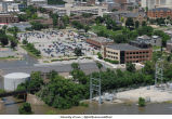 Aerial photographs of flooding near the University Services Building, The University of Iowa, June 16, 2008
