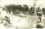 Street sale, Kensett, Iowa, March 7, 1908