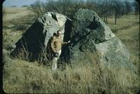 Granite boulder.