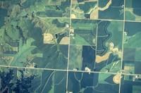 Aerial views of Cherokee County farmland.