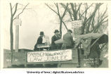 Mecca Day parade float mocking Law Jubilee, The University of Iowa, 1922