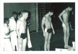 Students ready to race at swim meet, The University of Iowa high school, March  1967