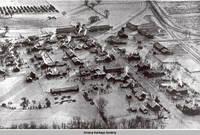 Aerial view West Amana, West Amana, Iowa