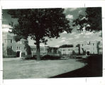 Courtyard of Quadrangle Hall, the University of Iowa, 1930s?