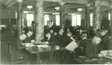 Studying in a Macbride Hall library, the University of Iowa, circa 1926