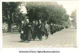 Commencement procession on Clinton Sreet, The University of Iowa, June 1920