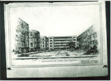 Proposed Physics-Mathematics Building on Pentacrest, The University of Iowa, August 19, 1958