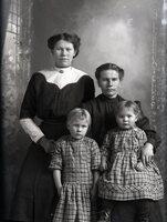 Two women, two children