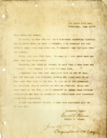 Letter replying to request for statement of injuries while a prisoner of war.