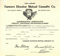 Farmers Elevator Mutual Casualty Co. Certificate