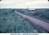 """Farm road, Yamagishi Kai """"Pioneer Farm"""", Hokkaido, August 1965"""