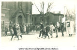 Laborers in Mecca Day parade, The University of Iowa, 1920