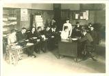 Daily Iowan newspaper staff, The University of Iowa, January 1919
