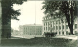 East side of Physics Building and northeast view of Engineering Building, the University of Iowa, 1930