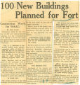 100 new buildings planned for fort
