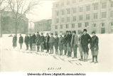 Skiing on campus, The University of Iowa, 1920s