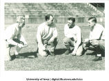 "Oscar ""Ossie"" Solem, football coach, with his assistants, The University of Iowa, 1932"