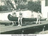 Canoe on  dock, The University of Iowa, 1937