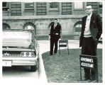 Phil Currie and Gary Gerlach at Iowa State Capitol, 1960