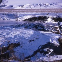 Beaver Dam in the winter.
