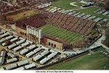 Iowa Stadium (now Kinnick Stadium), barracks, The University of Iowa, ca. 1963