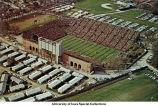 Iowa Stadium (now Kinnick Stadium), barracks, The University of Iowa, ca. 1963